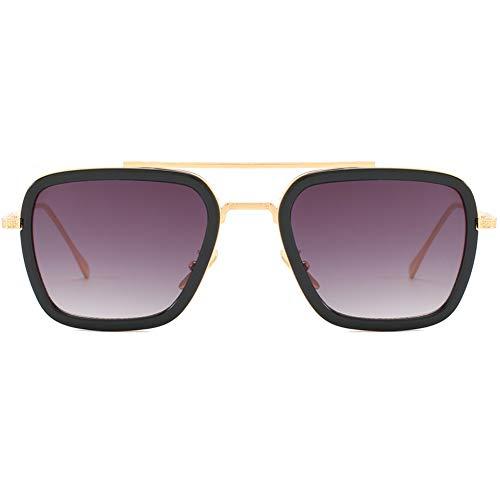 Tony Stark Same Paragraph Herren Sonnenbrille Polarized Light Metallrahmen Ultraleichte Mode Herren und Damen Unbreakable Rahmen Wandern, Outdoor, Fahren, Angeln, Golf,Purple