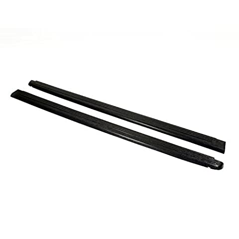 Wade 72-00171 Truck Bed Rail Caps Black Ribbed Finish without