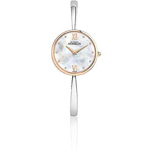 Michel Herbelin Women's 31mm Steel Bracelet Quartz MOP Dial Watch 17418/BTR19