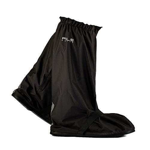 YangMi Regenstiefel- Herren Dicke High-Top Regenstiefel, Motorrad Elektroauto Anti-Rutsch-Regenstiefel (Color : Black, Size : XXL)
