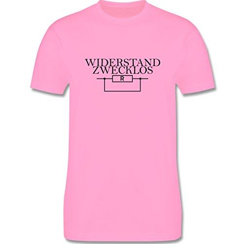 Lehrer - Widerstand zwecklos - Herren Premium T-Shirt Rosa