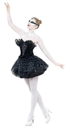 Schwarzes Tänzerinnen-Kostüm für Damen (Kostüm Ballerina Für Erwachsene Ideen)