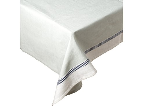 Mikasa Gourmet Basics Home Baumwolle Tischdecke, weiß