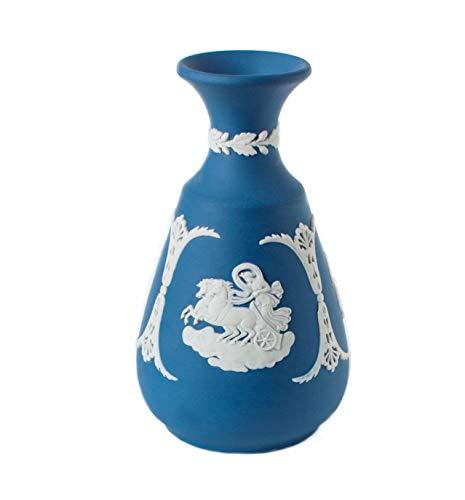 Wedgwood Cameo Jasperware Vase, Vintage-Stil, neoklassischer Stil der 80er Jahre, Jaspis, 12,7 cm, Saphirblau Wedgewood Jasperware
