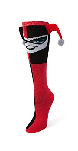 DC Comics Harley Quinn Dangle Hat Knee High Calze