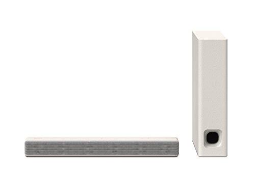 Sony HT-MT301 - Barra de Sonido compacta (2.1 Canales, con Bluetooth, NFC, S-Force Pro Front Surround, subwoofer inalámbrico) Blanco y Crema