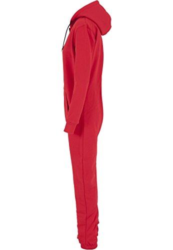 Urban Classics Damen Overall Jumpsuit Sweat Red/Blk
