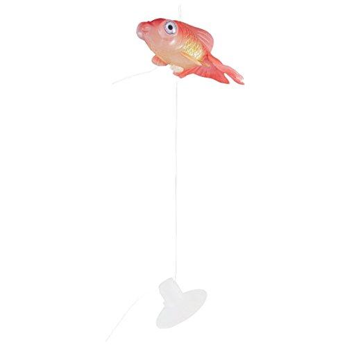 Gummi-Goldfisch - TOOGOO(R) Aquarium Kleine Saugnapf Kuenstlich Schwimmende Goldfisch Ornament Rot -