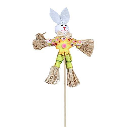 Ostern Dekorationen/Dorical 1pcs 32 x 10cm OsternRabbit Süß Geschenk Vogelscheuche auf dem Spiel Halloween Dekoration Ostern Kaninchen Herbst Herbst Ernte Dekoration(Gelb-2,One size)