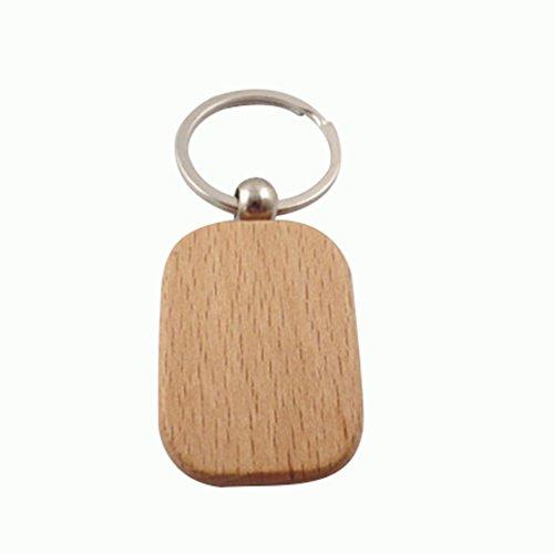 bcfe223f2 Dosige 1 Piezas Colgante pequeño de madera Hebilla dominante de madera  Personalidad de la Moda Llavero
