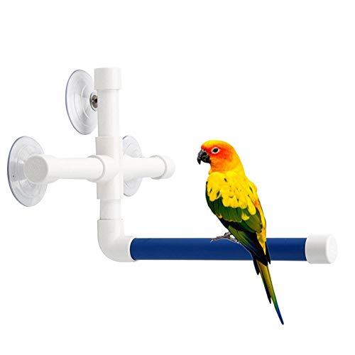 Haustier Papagei Vogel Bad Dusche Wand Saugnapf Platform Rack Freistehend Sitzstange Spielzeug -