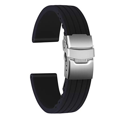 *Especificaciones del producto*- [Fabricante / Marca:] Ullchro- [ Material]: Silicona- [ Correa de reloj de color] : negro, marrón, azul, rojo, naranja- [ Longitud total sin hebilla] : aprox. 19 cm- [ Espesor del reloj de la correa] : aprox. 3 mm...