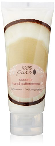 100% Pure Organic Hand Cream, Coconut, 2 Ounce by 100% Pure