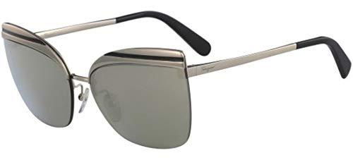 Salvatore ferragamo occhiali da sole sf 166s gold/green donna