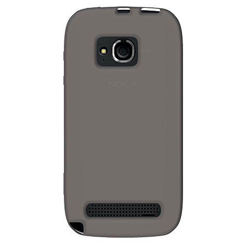 Amzer AMZ93360 Silicone Skin Jelly Case for Nokia Lumia 710 (Grey)  available at amazon for Rs.279