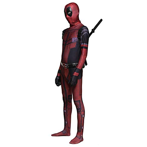 Marvel Deadpool Kostüm - Lydia's Anime Marvel Deadpool Cosplay Kostüm Body Erwachsene Kind Kostüm Spandex Overalls Für Maskerade Halloween Kid-S