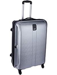 Safari Thorium Stubble 77 Cms Polycarbonate Silver Check-In 4 wheels  Hard Suitcase