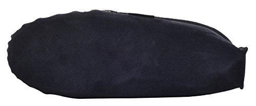 Lambland pour homme Bleu marine en Daim Véritable Peau de Mouton Mocassin Pantoufles avec semelle en suède doux Bleu - Bleu marine
