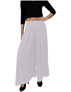 Indian Handicrfats Export Dolce Divaa Flared Women's White Trousers