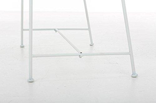 CLP Gartenbank MAGDA im Landhausstil, Eisen lackiert, 106 x 52 cm Weiß - 8