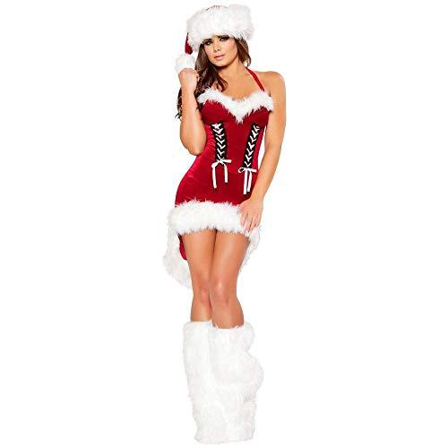 Mädchen Kostüm Tanz Weihnachts Meine - Weihnachten Meine Damen Süße Weihnachten Bühnenperformance Kostüm Ds Kragen Tanz Weihnachten Kostüm Set, Red, One Size