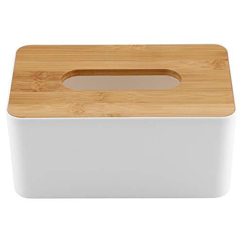 Acogedor Funda Caja de pañuelos, Caja de pañuelos de Madera bambú como Papel Toalla dispensador, Rechteck