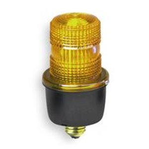 Low Profile Warning Light, Strobe, Amber by Federal Signal Low-profile-strobe Light