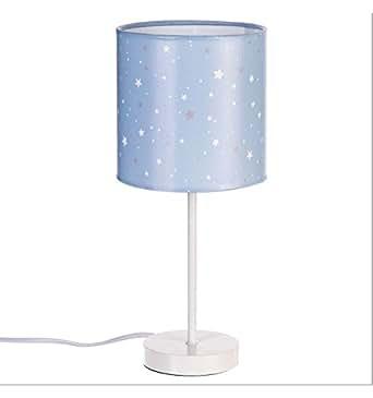 Lampe de chevet abat jour couleur bleu étoilé