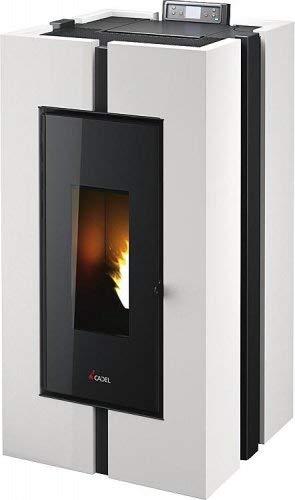 CADEL Doge³ Plus Pelletofen 10,5 kW Pellet Ofen Warmluftverteilung Doge-Weiss