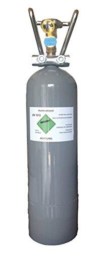 Gasflasche KOHLENSÄURE gefüllt mit 2 kg Co2 (Die Kohlendioxid-gasflaschen)