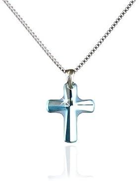 Kinderkette Religion 925 Silber mit Swarovski Elements Kreuz Anhänger