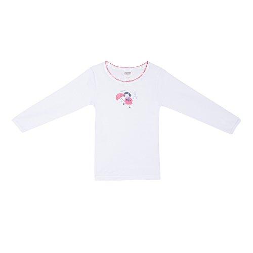 7929bb3788d81 Absorba Underwear T-Shirt, Camiseta para Niñas, Blanco (White 01),