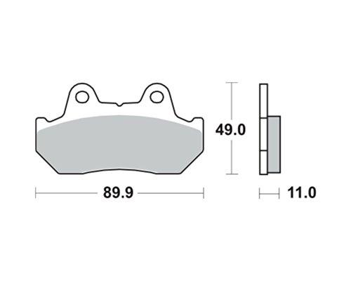 Pastiglie freno TRW MCB512SH per HONDA XL 600 RM PD04 86- (anteriore)