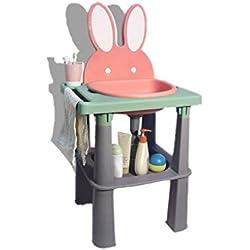 ZHAO ZHANQIANG Lavabo portatif for Enfants, lavabo for Enfants de 6 Mois à 10 Ans(Rose Cerise)