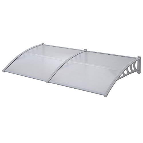 SVITA Vordach Tür-Dach Überdachung transparent Schutz vor Niederschlag und Witterung (80 x 200 cm)