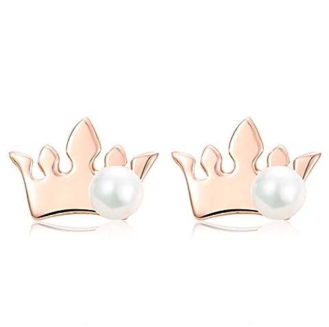 Les nouvelles boucles d'oreilles en perles de perles en argent Sterling Silver à la mode Sweet 925 Boucles d'oreilles en perles argentées anti-allergies pour femmes et filles