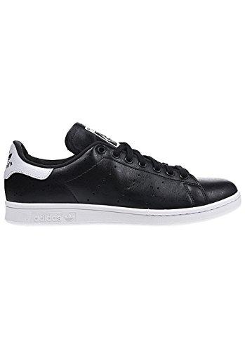 adidas Unisex-Erwachsene Stan Smith Gymnastik Schwarz/Weiß (CBLACK/CBLACK/SCARLE)