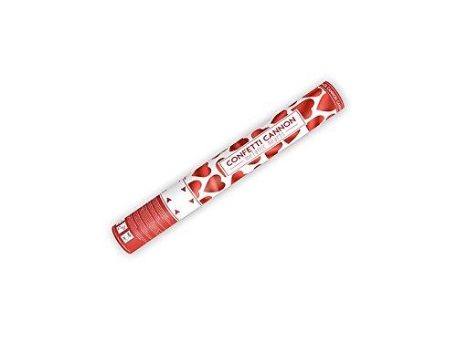 comprare on line SPARACORIANDOLI CANNONE tubo forma di CUORE ROSSO metallizzato per MATRIMONIO anniversari SAN VALENTINO 8pz prezzo