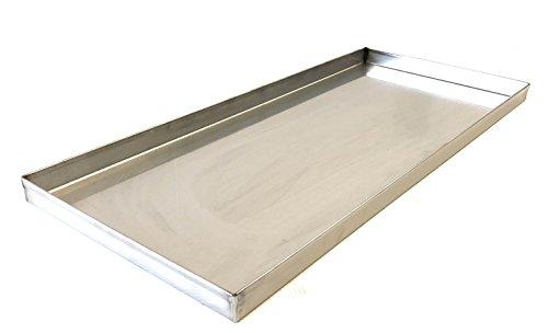 Per girarrosto ALLEGRI Teglia Leccarda INOX cm 88 x 27 per raccolta grasso