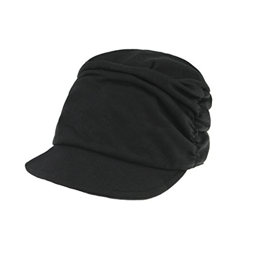 Damen-Weiche-Falte-Baskenmtze-Schirmmtze-Schiebermtze-Wollmtze-Beret-Cap-Barret-Mtze-Kappe-Hut