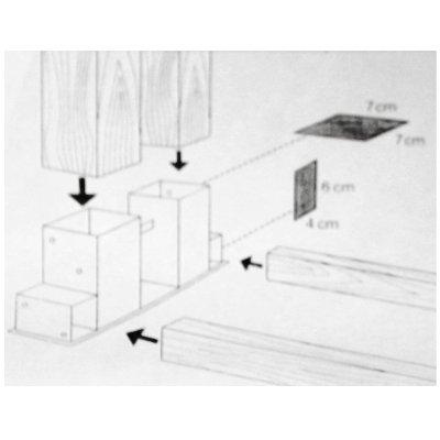 Stapelhilfe für Feuerholz-Kaminholz, 2er Set - 4