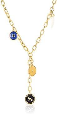 Emporio Armani Women Cubic Zirconia Emporio Armani Women's Stainless Steel Chain Necklace - EGS2517710 Her