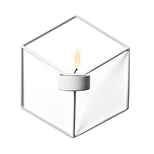 KKRIIS Geometrische Leuchter Metall Neue 3D Moderne Wand Kerzenhalter Wandleuchte Passende Ornamente, W -