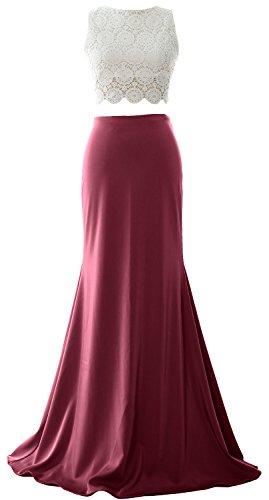 MACloth - Robe - Boule - Sans Manche - Femme rouge bordeaux