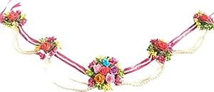 B Craft Foam Flower Jewellery Kamarband/Waistband/Belly Chain for Women for/Haldi/Mehandi Ceremony (Multicolour)