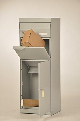 Paketbriefkasten Etna 771 Weiß-Aluminium