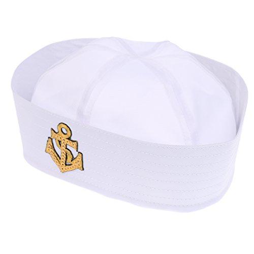 Gazechimp Damen Herren Junge Mädchen Marine Hutmütze Mit Anker Weißer Seemann in vielen Stilen - Farbe 11, wie beschreiben (Seemann Mädchen Kostüme)