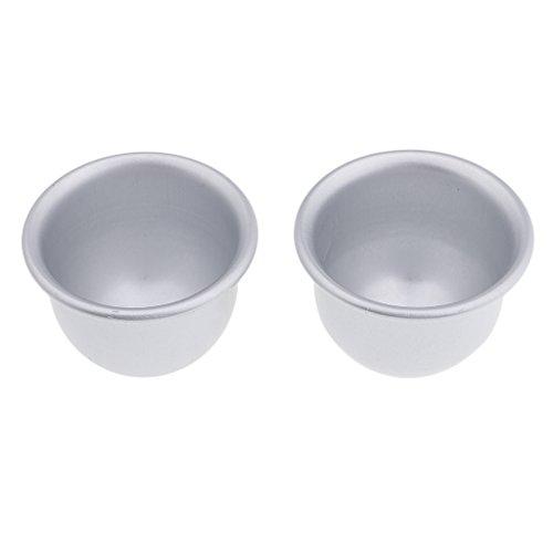 MagiDeal 2pcs Moule en Aluminium pour Bombes de Bain DIY/Fabrication de Savon/Pâte à Sucre/Pâtisserie/Décoration de Fondant/Cadeau d'Artisanat/Art/Bricolage - # 5