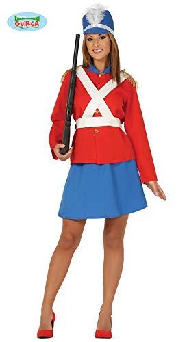Guirca Costume Vestito Abito Travestimento Carnevale Adulto Donna SOLDATESSA di Piombo, SOLDATINA di Stagno, SOLDA SCHIACCIANOCI (Taglia L (42-44))