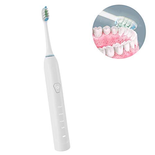 HRRH Oral wiederaufladbare elektrische Zahnbürste, elektrische Zahnbürste saubere Zähne USB aufladbar 2,5 Stunden Ladezeit mindestens 30 Tage Verwenden Sie IPX7 wasserdicht (Elektrischer Ebene)